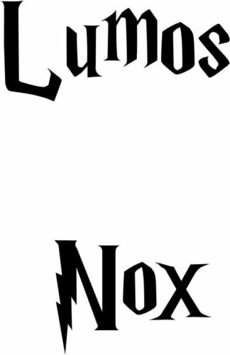Harry Potter Lumos Nox Light Switch Decal Childs Room Wall Art Sticker VINYL