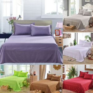 0757-Bed-Sheet-Solid-Color-Flat-Sheet-Bedding-High-Grade-Bedsheet-Bedclothes