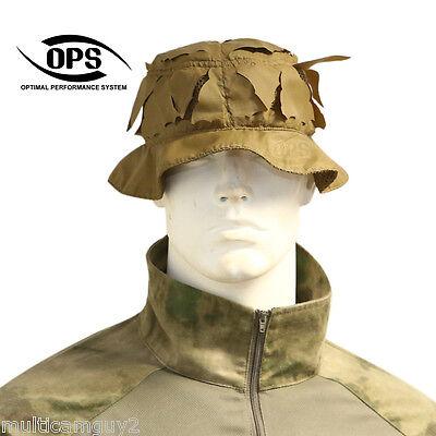 OPS TACTICAL BOONIE HAT IN A-TACS IX SIZE M//L UR-TACTICAL