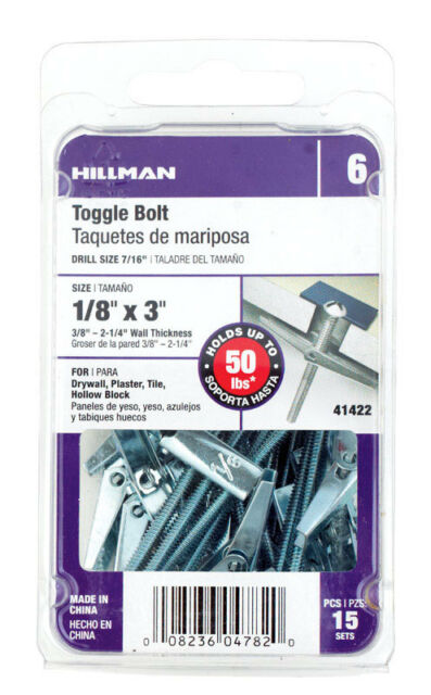 The Hillman Group 41422 Toggle Bolts