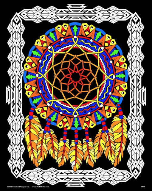 Dream Catcher - Large 16x20 Inch Fuzzy Velvet Coloring Poster for ...