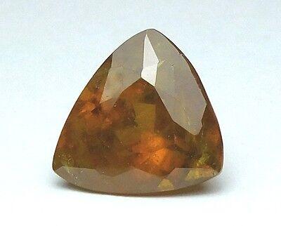 Zuversichtlich Interessanter Grosser Titanit(sphene) Aus Russland Triangel 10,80 Ct
