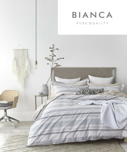 Bianca STRIPE COTTON WEAVE 100/% Cotton Soft Duvet Cover//Quilt Cover Set Blue