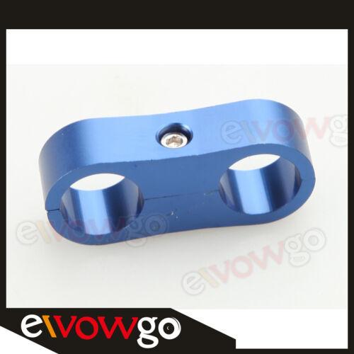 ID 7.9mm Billet Fuel Hose Separator Fittings Adapter Aluminum Blue