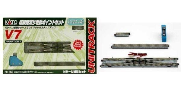 nuovo KATO UNITRACK 20866 V7 doppio CROSSOVER TRACK SET