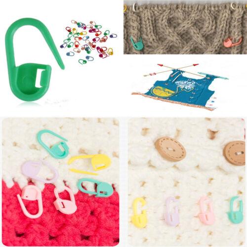 100Pcs//set Aguja de Tejer Crochet Artesanal de bloqueo Puntada Clip Los Titulares de marcador