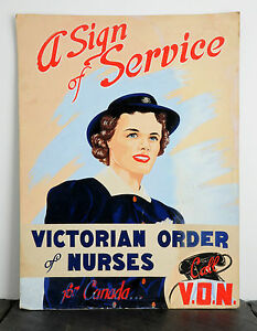 1949-Victorian-Order-of-Nurses-Original-Poster-Art-Ad-Agency-Board-Illustration