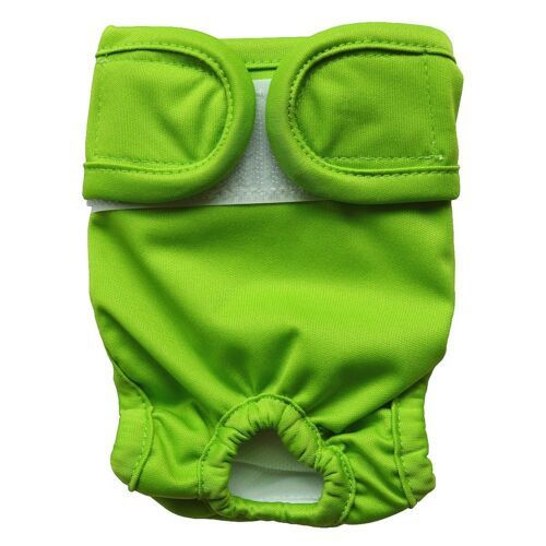 1 Reusable Washable Dog Diaper Nappy Durable Puppy Pets Pants Green 4 Sizes