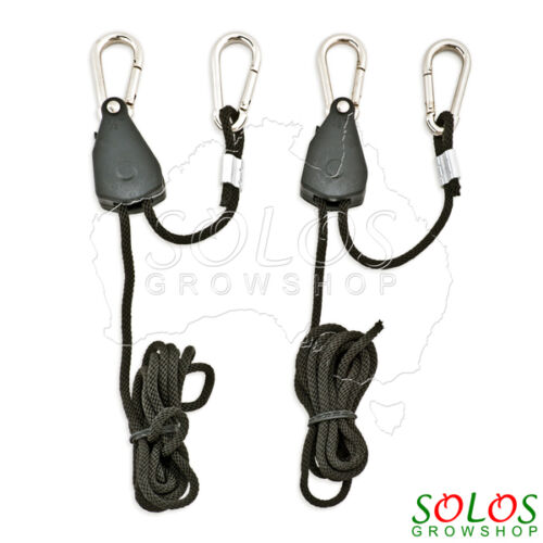 HYDROPONIC HEAVY DUTY ROPE RATCHET HANGERS FOR VENTILATION LED LIGHTS GROW TENT