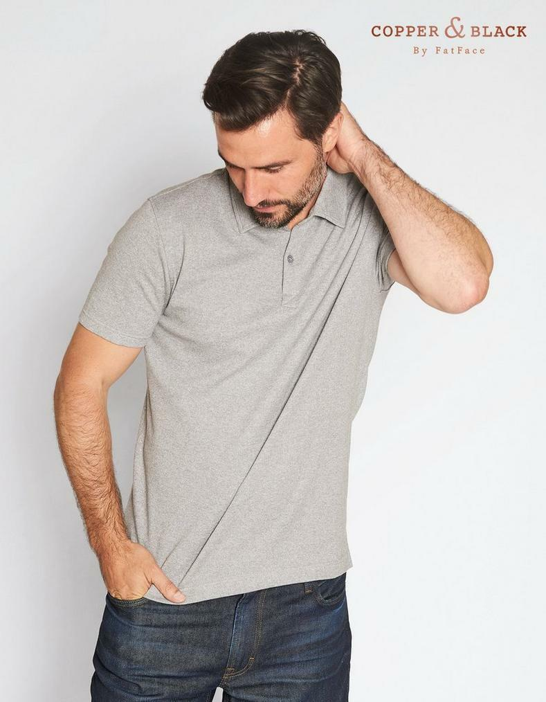 Fat Face CB Petworth Polo - Grey Marl - Size -XXL 44.5 -47  - RRP .50