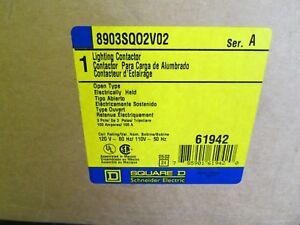 3pole 110-120volis coil new 100 Amp Square D 8903SQO2V02 Lighting Contactor
