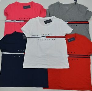 NWT-Tommy-Hilfiger-Women-039-s-Tee-T-Shirt-Blouse-Short-Sleeve-Relaxed-Fit