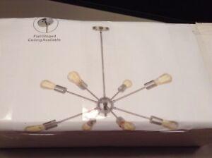 Vinluz 8 Light Sputnik Chandelier Chrome Mid Century Modern Ceiling