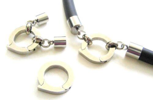 Acero inoxidable mosquetón anillo donut 20mm kettenverkürzer remates 6//8mm