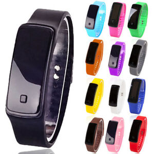 MODA Digital LED Reloj deportivo unisex silicona banda pulsera hombre de mujer