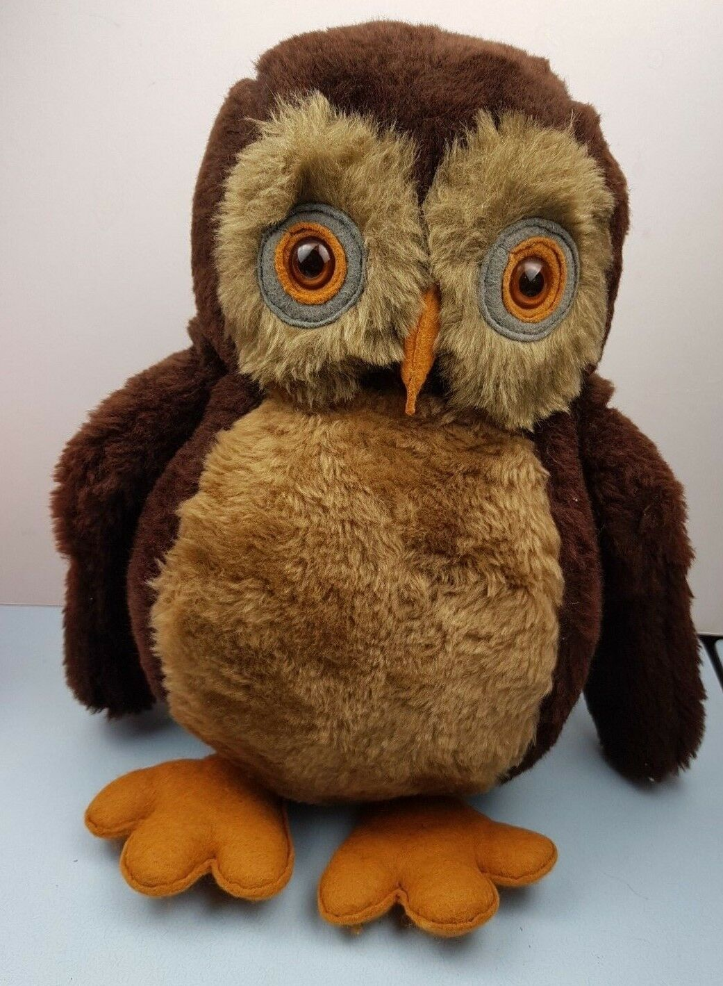 VINTAGE Animale Craft GRANDE OWL Hand Made in Inghilterra con bella Dettaglio
