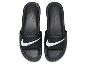 030c9b53e Nike Benassi Solarsoft TB Black White Mens Sandal Slides Slippers ...