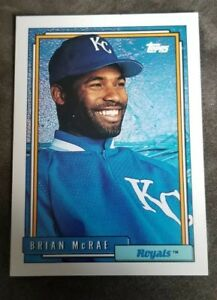 Details About 1992 Topps Baseball Card 659 Brian Mcrae Kansas City Royals