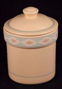 Image Is Loading Vntg Ceramic Canister Jar Treasure Craft Southwest Pattern