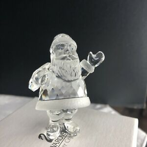 SWAROVSKI-Silver-Crystal-Santa-Claus-Figurine-New-Original-Box-COA-1998-Retired