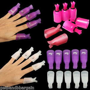 10pcs-Plastic-Nail-Soak-Off-UV-Gel-Art-Tips-Polish-Remover-Wrap-Gelish-Clip-Cap