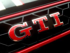 GTI-kit-Embleme-calandre-rouge-Volkswagen-VW-Polo-Golf-4-Golf-5-golf-6