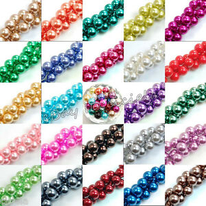 100pcs-Top-Quality-Charms-Czech-Glass-Pearl-Round-Beads-4mm-6mm-8mm-10mm-12mm