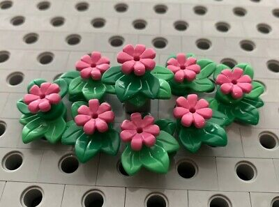 Lego Yellow Flowers With ivy Green Leaves Plant Bush Garden Greenery New 8pcs