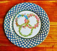 Faux China Tin Dinner Plate Sevres 1766 Reproduction Three Garlands