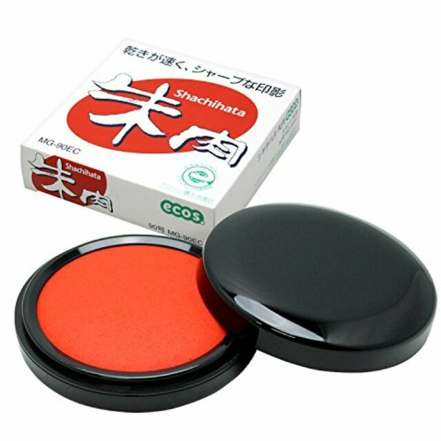 Shachihata SHUNIKU (Round Red Ink Pad for Hanko) ECOS No. 90 F/S w/Tracking# NEW