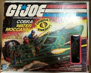 Vintage-G-I-Joe-Cobra-Water-Moccasin-BOX-ONLY-Hasbro-1984