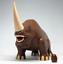 Custom Angry Mud Rhino with Egg