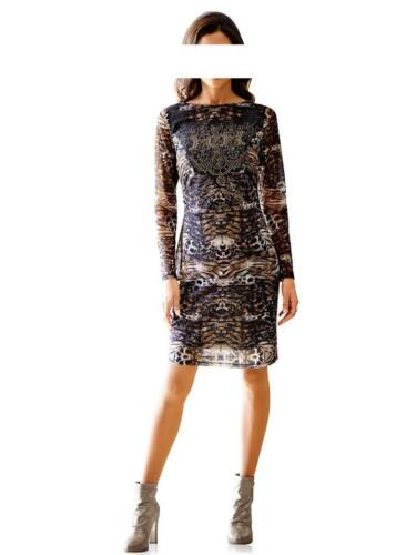 Robe de Heine Mini animal print rivets strass multicolore taille 38 40 42