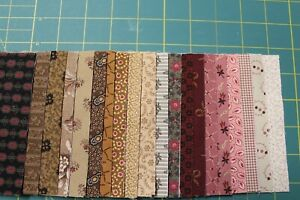 40-ASSORTED-REPRODUCTION-5-034-SQUARES-COTTON-CHARM-PACK-QUILT-FABRIC-MARCUS