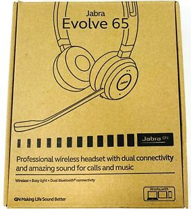 Jabra Evolve 65 Stereo Uc Wireless On Ear Headset 5706991017151 Ebay