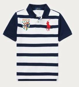 Ralph Lauren Navy Striped Rugby NWT L