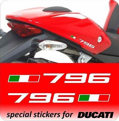 2 Adesivi Ducati Monster Per Codone 796