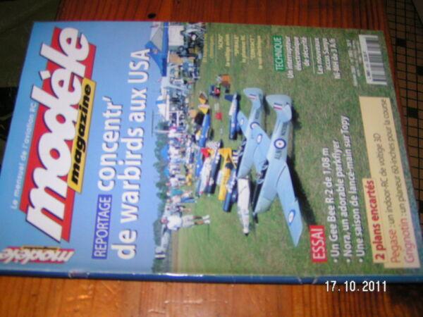 * Modele Magazine N°593 Plan Encart Pegase & Grignotin