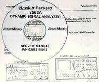 Hp Hewlett Packard 3562a Dynamic Signal Analyzer Service Manual W/schematics