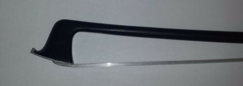 "4//4 Artist /""Clef/"" Carbon Fiber Viola Bow with Zarelon Unbreakable Bow Hair"