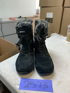 Quest Northern Ridge Women's Black Leather WP Boots 100 Gram Insulation Size 8