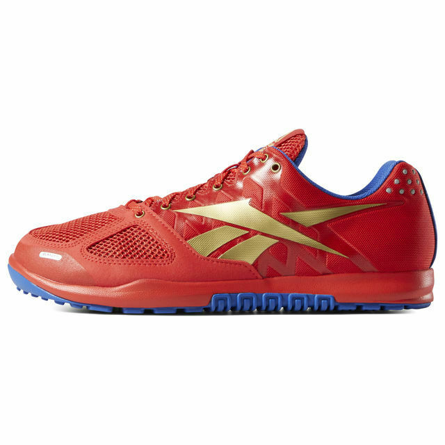 2801f20d849 Reebok Crossfit Nano 2.0 Mens Red Blue Gold Hero Pack Shoe Size 8.0 6.0 7  DV5758