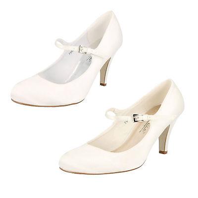 Damas Anne Michelle Satén Boda Zapatos De Salón Estilo f9699