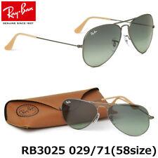 ed9206417c Ray-Ban Aviator Gunmetal Sunglasses Rb3025 029 71 Gradient Grey Lens Plus  Case