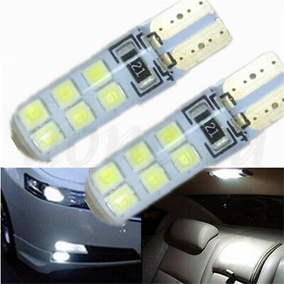 10X Bright T10 194 12V Car Bulb Led Error Free Canbus SMD White W5W Side Light