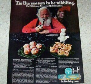 1970 Ad Page Pillsbury Crescent Rolls Recipes Doughboy Santa Claus Print Ad Ebay
