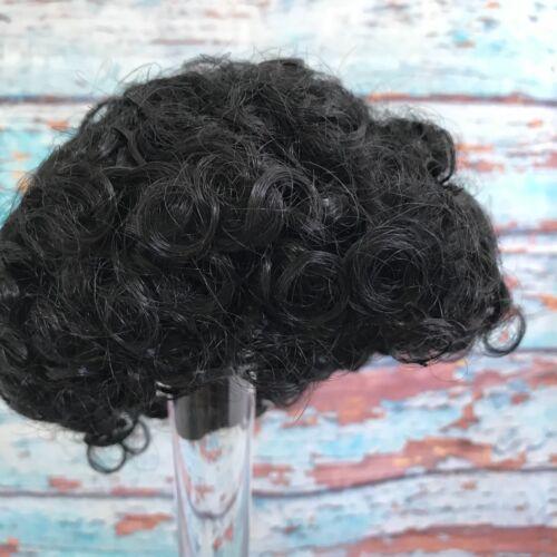 "60 Vintage Doll Wig by Tallinas 12"" Short Black"