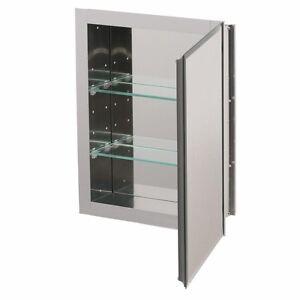 kohler aluminum recessed medicine cabinet shelves mirror bathroom