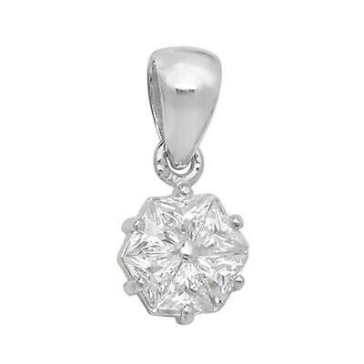 925 Sterling Silver Tiny Open Hexagon Delicate Necklace with Cubic Zirconia UK