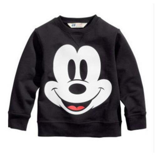 Enfants Petite Fille Garçons Mickey Minnie Mouse Capuche Manteau Extérieur Haut